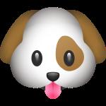 emoji puppy